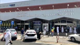منظر عام لمدخل مطار أبها السعودي