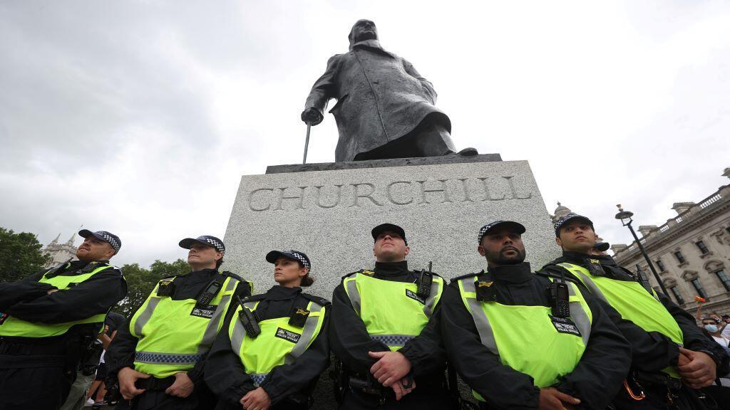 POLICE-PROTESTS-BRITAIN