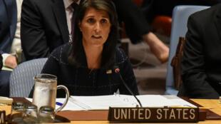 سفيرة الولايات المتحدة في الأمم المتحدة نيكي هيلي