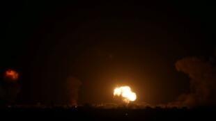 غارة جوية ليلية في قطاع غزة