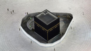 في المسجد الحرام بمدينة مكة السعودية