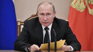الرئيس الروسي فلاديمير بوتين-