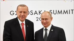 بوتين وإردوغان في قمة العشرين بأوساكا
