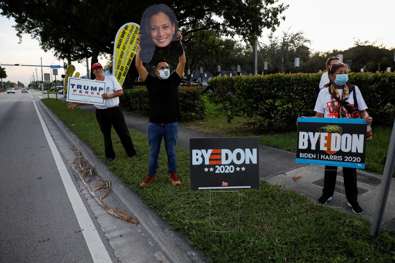 USA-ELECTION-FLORIDA_biden_trump_supporters
