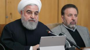 الرئيس الإيراني حسن روحاني يلقي كلمة يوم 20 نوفمبر 2019