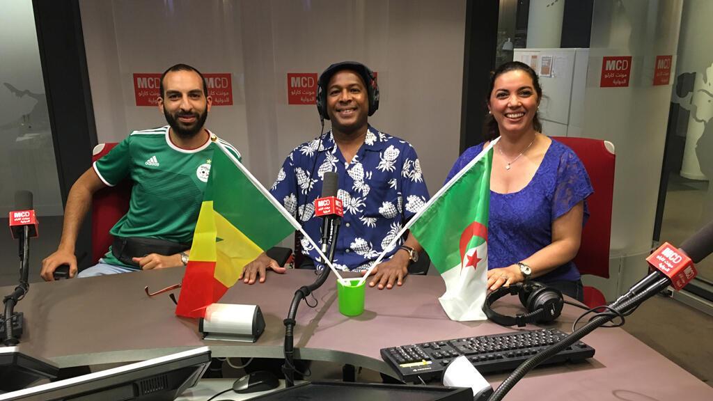 في استديو مونت كارلو الدولية استعدادا لنهائي كأس الأمم الإفريقية
