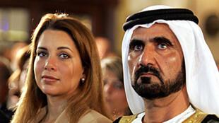 حاكم دبي محمد بن راشد آل مكتوم وزوجته السابقة الأميرة هيا بنت الحسين