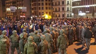 محتجون في بيروت يوم 25 نوفمبر 2019