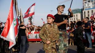 صورة من احتجاجات اللبنانيين-