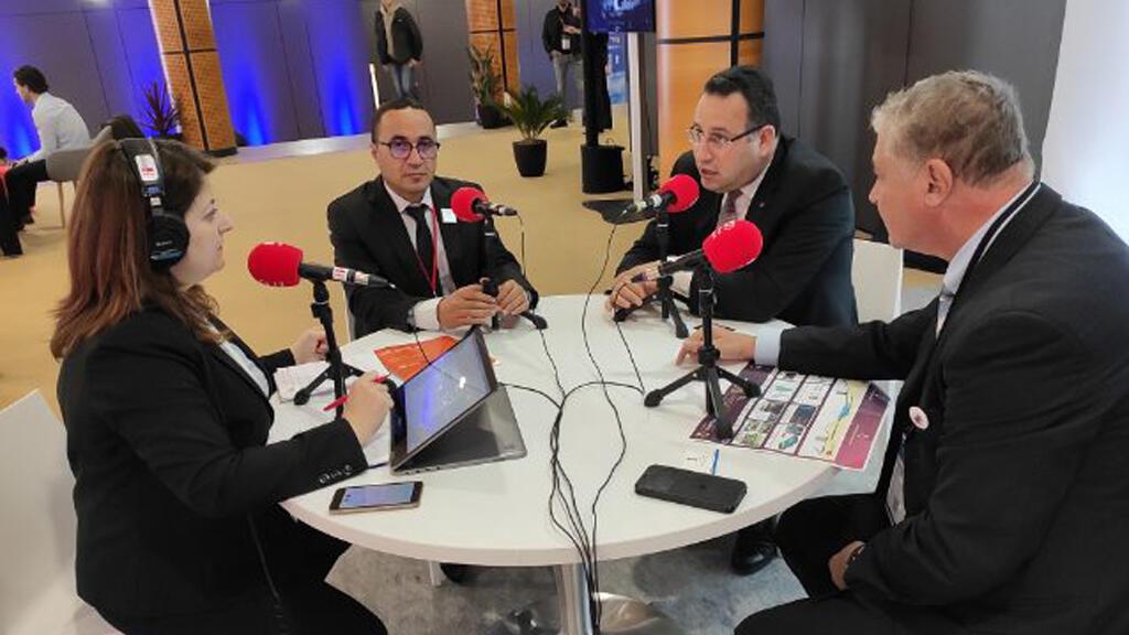 من اليمين إلى اليسار: فوزي بن عيسى، عبد العزيز قنصوة، التهامي المحمدي وأمل نادر