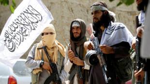 صورة لطالبان في غانيخيل في ولاية نانغارهار، شرق أفغانستان