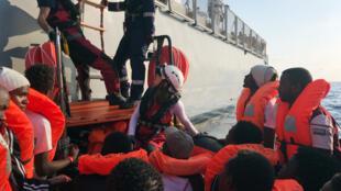 انقاذ المهاجرين في البحر الأبيض المتوسط