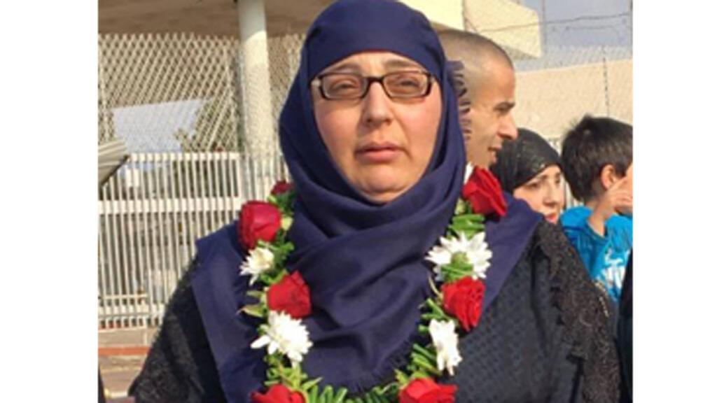 الأسيرة المحررة لينا أحمد صالح الجربوني (الصورة: يوتيوب)