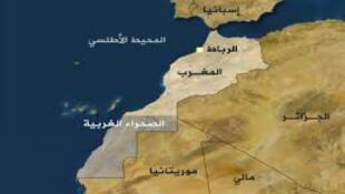 / موقع الصحراء الغربية على الخريطة