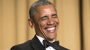 صورة لأوباما أثناء خطابه في حفل الصحفيين المعتمدين من البيت الأبيض