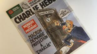 """""""تهديدات ضد الرئيس. ماكرون يطلب حماية شارلي إيبدو"""" - عدد 23 كانون الثاني 2020"""