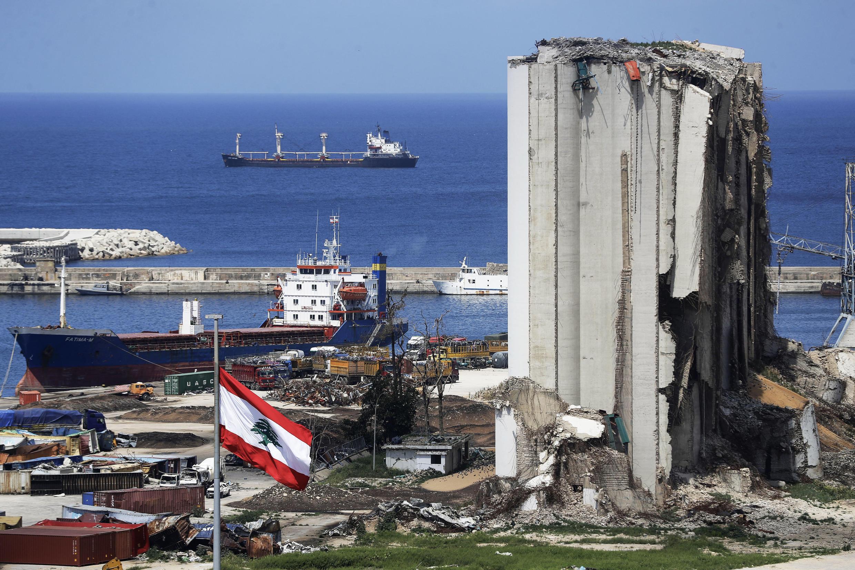 مرفأ بيروت يوم 9 أبريل 2021