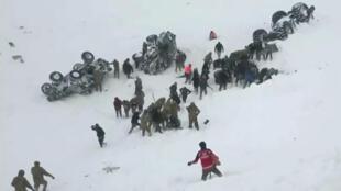 انهيارجليدي في شرق تركيا