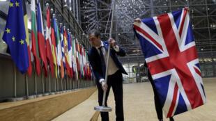 سحب علم بريطانيا من مجموعة أعلام الاتحاد الأوروبي