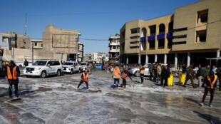 موقع تفجيرين انتحاريين وسط بغداد