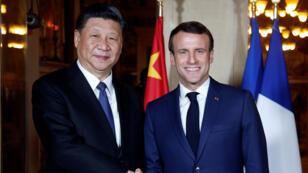 الرئيس الفرنسي ونظيره الصيني