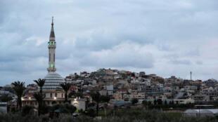 مسجد في قرية باقة الغربية في إسرائيل