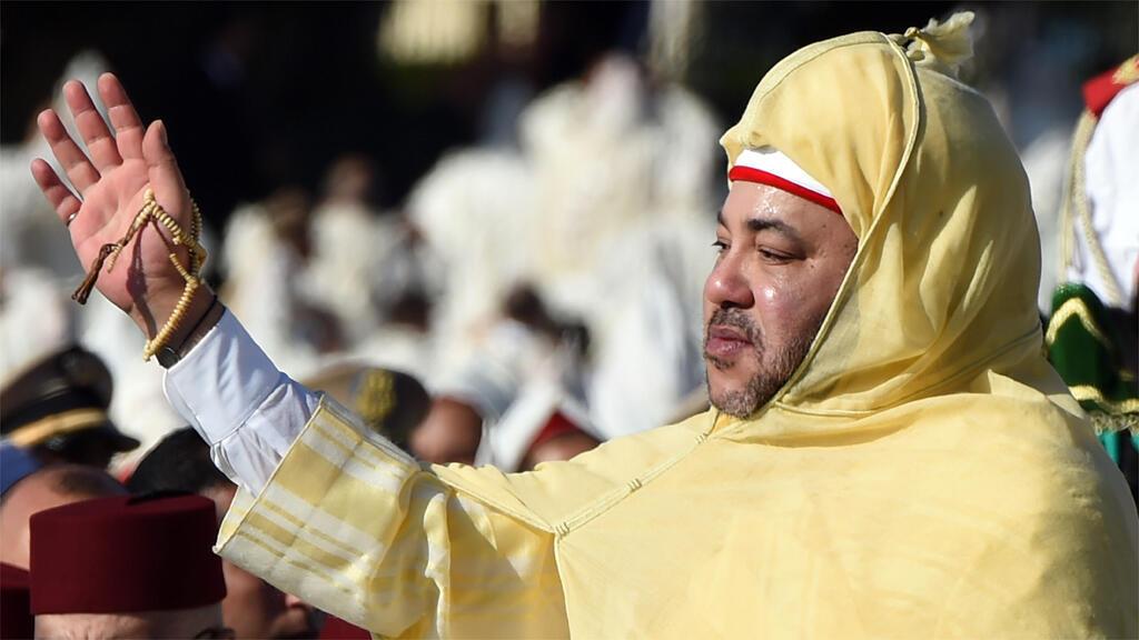 الملك محمد السادس في القصر الملكي بالرباط في 31 حزيران
