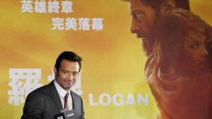 """الممثل هيو جاكمان يحضر العرض الأول  من فيلم """"لوجان"""" في تايوان"""