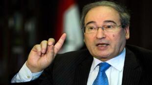 فيصل المقداد نائب وزير الخارجية السوري