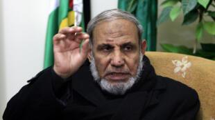 القيادي في حركة حماس محمود الزهار في غزة