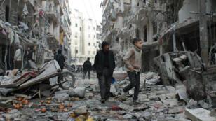 مشاهد الدمار في سوريا