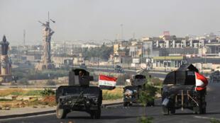 القوات العراقية تدخل مدينة كركوك يوم 16 اكتوبر 2017