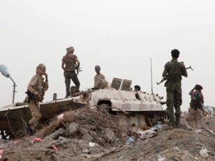 أفراد القوات الانفصالية اليمنية الجنوبية التي تدعمها الإمارات في عدن