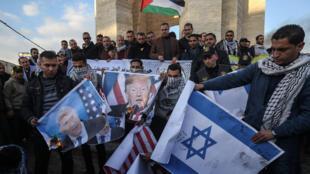 """الاحتجاجات في غزة على """" صفقة القرن"""" يوم 29 يناير 2020"""