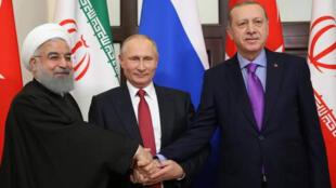 رؤساء تركيا وروسيا وإيران