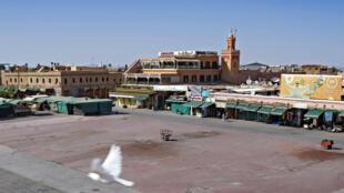 ساحة جامع الفنا في مدينة مراكش، المغرب