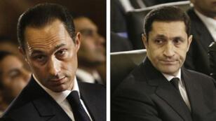 نجلا الرئيس المصري الأسبق حسني مبارك