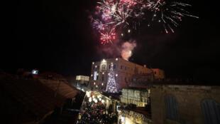 احتفالات عيد الميلاد في غزة