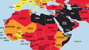 مؤشر الحريات الصحفية في العالم العربي