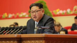 كيم جونغ أون في مؤتمر الحزب الشيوعي الكوري 8-5-2016