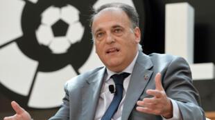 خافيير تيباس رئيس الرابطة الاسبانية لكرة القدم