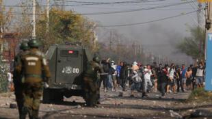 مواجهات مع الشرطة في ضواحي العاصمة التشيلية