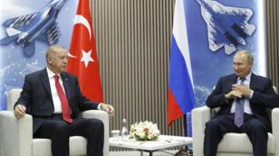 بوتين وأردوغان يوم 27 أغسطس 2019 في موسكو