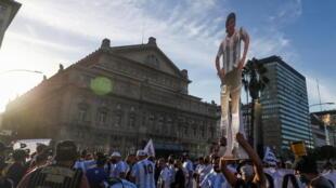 """مسيرة في الأرجنتين تطلب """"العدالة لدييجو"""" مارادونا"""