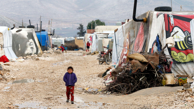 مخيم للاجئين سوريين في بر إلياس بسهل البقاع في لبنان