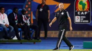 جمال بلماضي مدرب الفريق الجزائري لكرة القدم