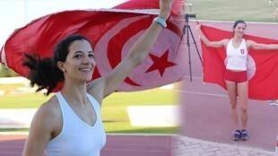 التونسية دُرة محفوظي بطلة رياضة القفز بالزانة