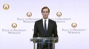ورشة السلام إلى الازدهار في 25 يونيو 2016 ، تُظهر جاريد كوشنر ، كبير مستشاري البيت الأبيض
