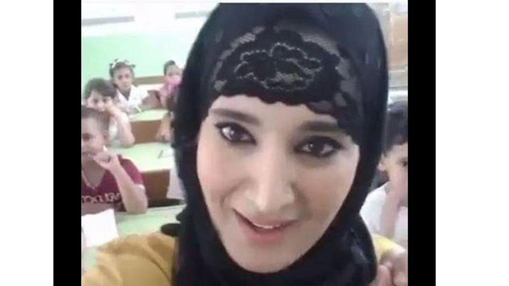 لقطة من فيديو المعلمة صباح بودراس مع تلاميذها