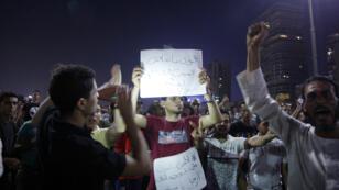 محتجون في القاهرة مساء 21 سبتمبر 2019